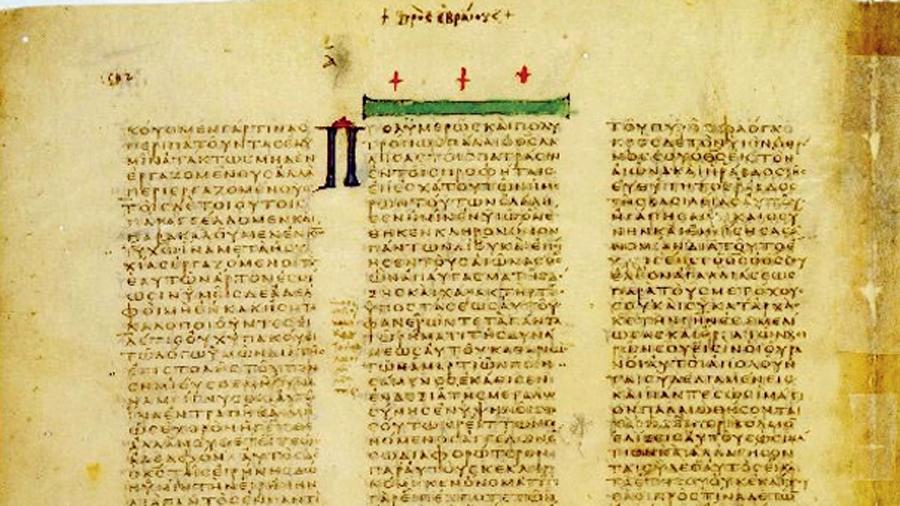 'The Codex Vaticanus', a biblical manuscript from the mid-4th century.