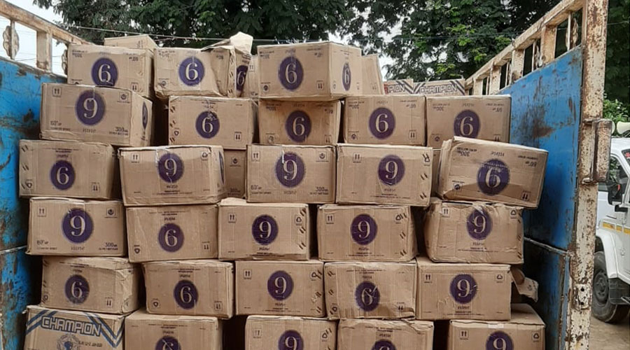 The seized consignment of liquour