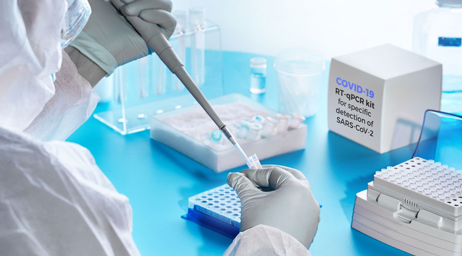 The RT-PCR diagnostic test is viewed as the gold standard and looks for viral genetic material but requires a sophisticated lab and skilled personnel.