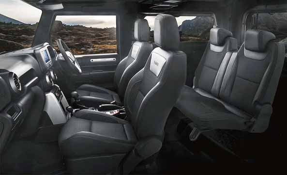 The interiors are now more amenable to water wading and open-top driving with water-resistant switches and electronics