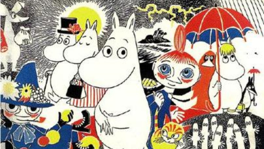 The Moomins, comic book cover by Tove Jansson
