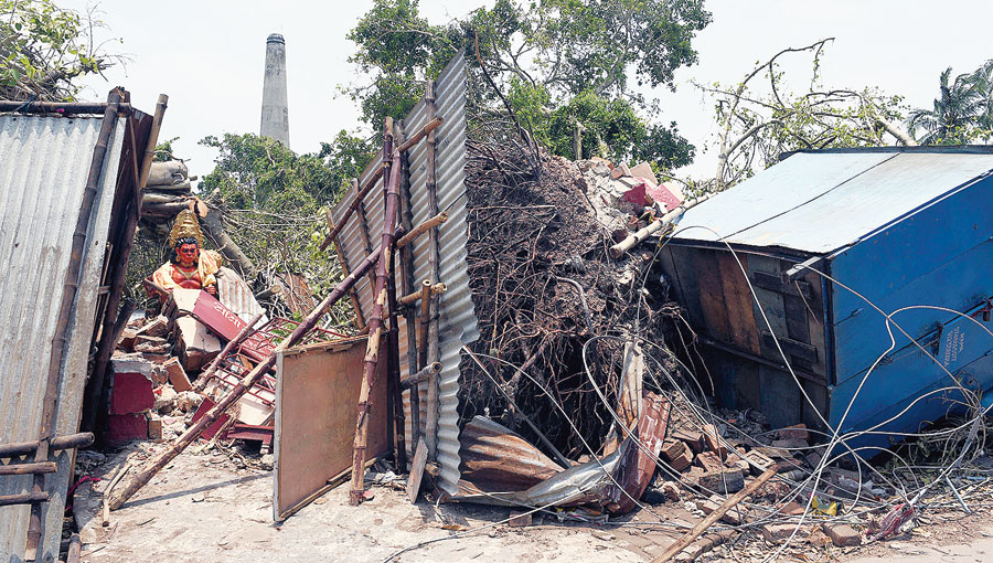 The damage caused by Cyclone Amphan in Hooghly