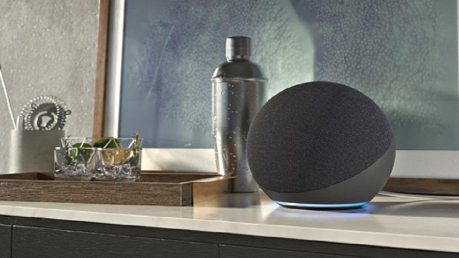 The new Echo smart speaker from Amazon is spherical in shape