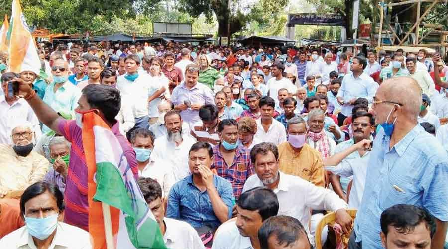 The Congress demonstration in Malda on Monday