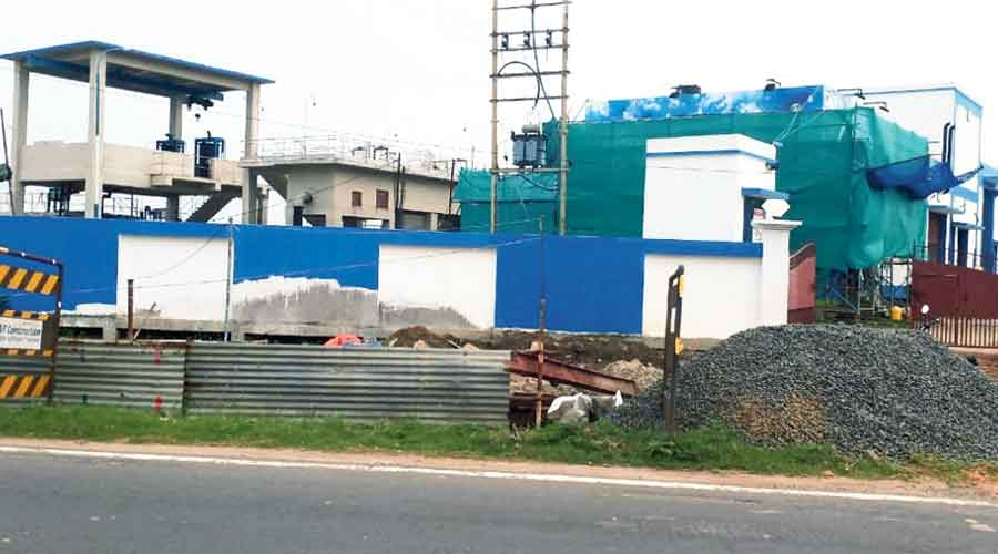 A sewerage treatment plant in Barrackpore