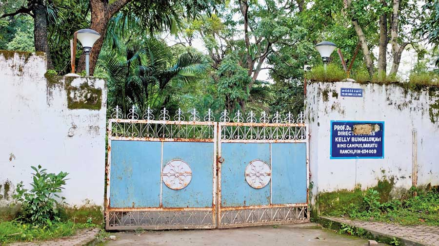 The RIMS Ranchi director's bungalow where RJD chief Lalu Prasad Yadav  is lodged.