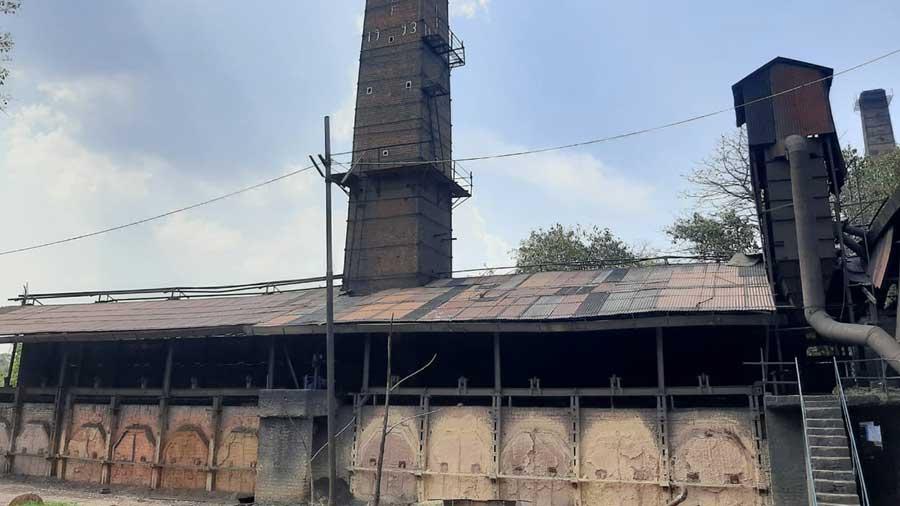 A hard coke factory at Baliapur in Dhanbad.