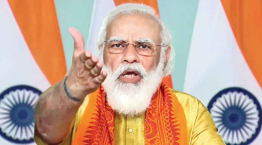 Prime Minister Narendra Modi defends the farm laws after inaugurating six projects in Uttarakhand through videoconference from New Delhi on Tuesday