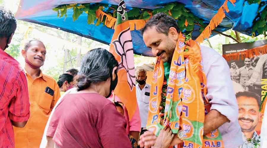 The BJP's K Surendran campaign in Konni