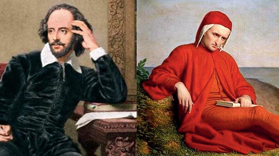 William Shakespeare and Dante Alighieri.