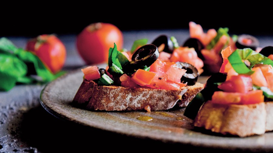Italian Tomato and Olive Bruschetta