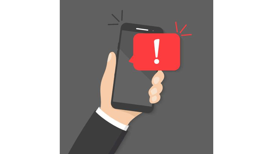 It is even harder to block messages that do not have a mobile number.