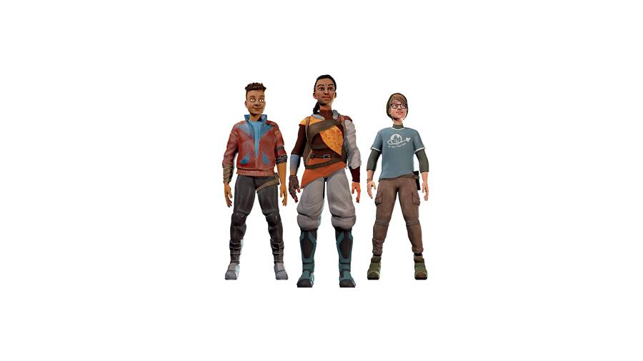 Knox, Sagan and Terran are the three main characters in the game, Reset Earth