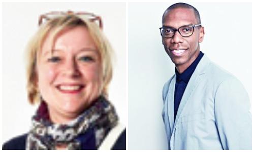 (L-R) Cecile Blondel of GOBELINS and Christopher Mack of Netflix