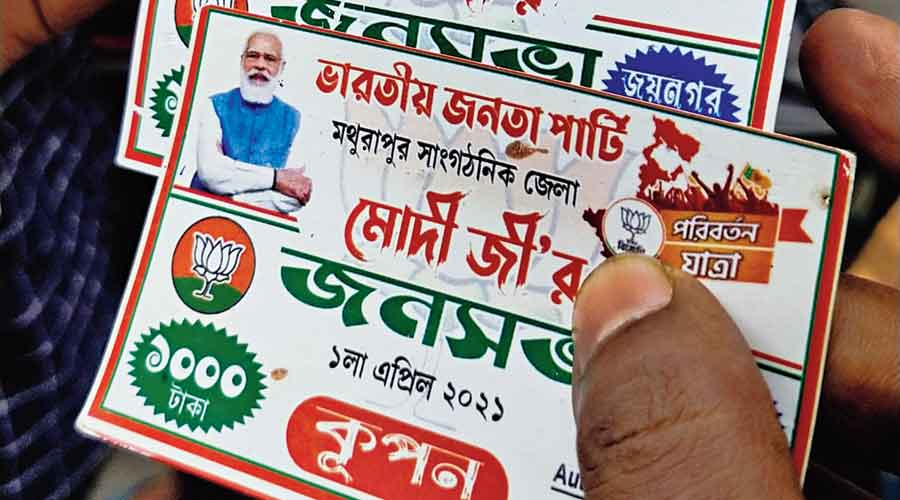 Cash coupons blow up on BJP in Bengal