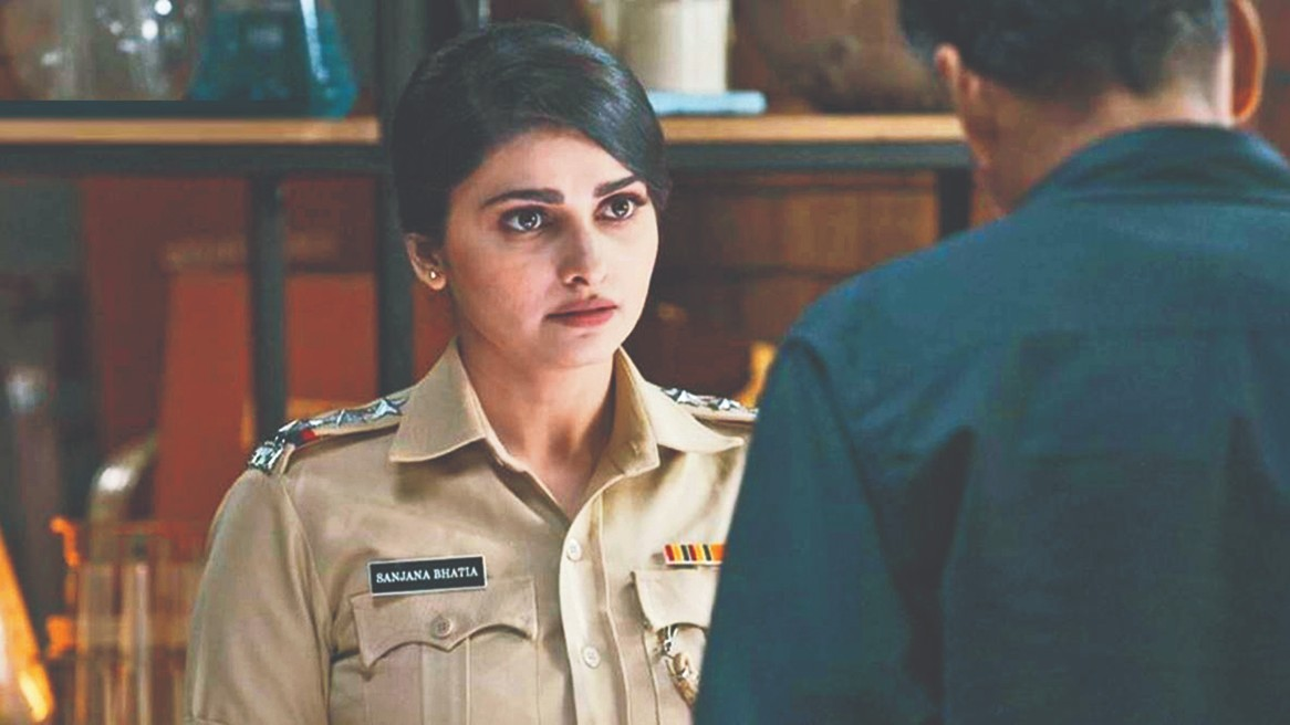 Prachi Desai as Inspector Sanjana Bhatia in a scene from the film Silence... Can You Hear It?
