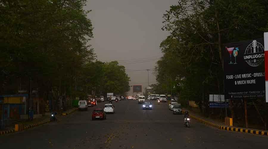 Dark clouds hover over Jamshedpur on Thursday.