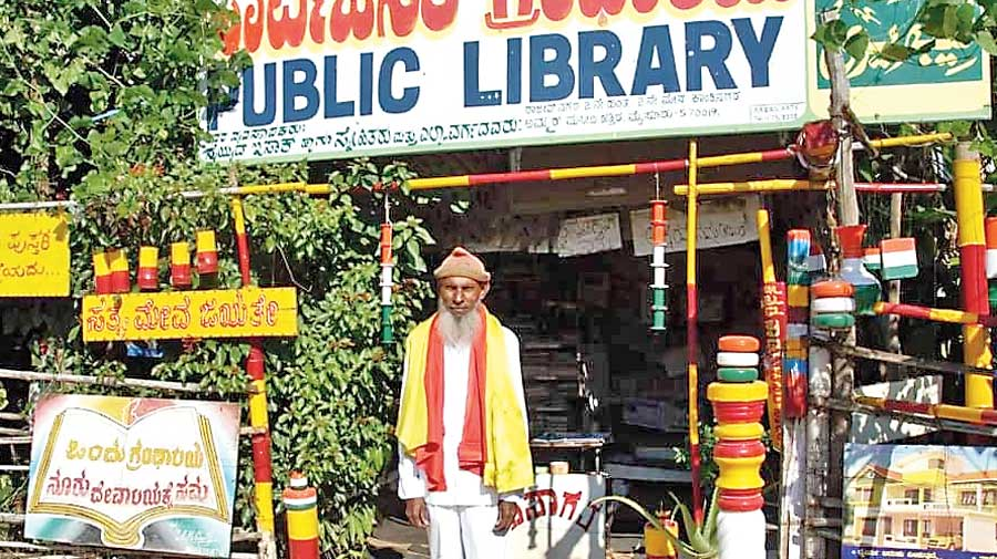 Syed Issaq at his library during better times