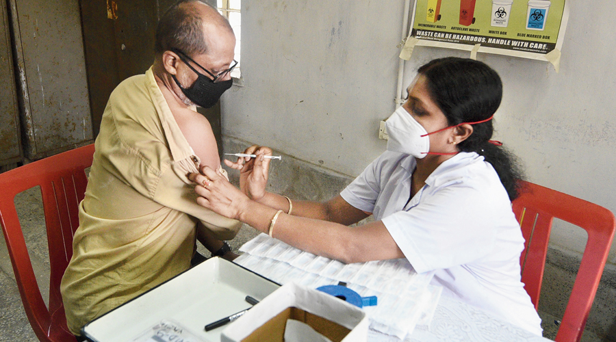 The state on Thursday administered the first dose of vaccine against Covid-19 to as many as 61,957 residents, including 45,441 in the age bracket of 18 years to 44 years.