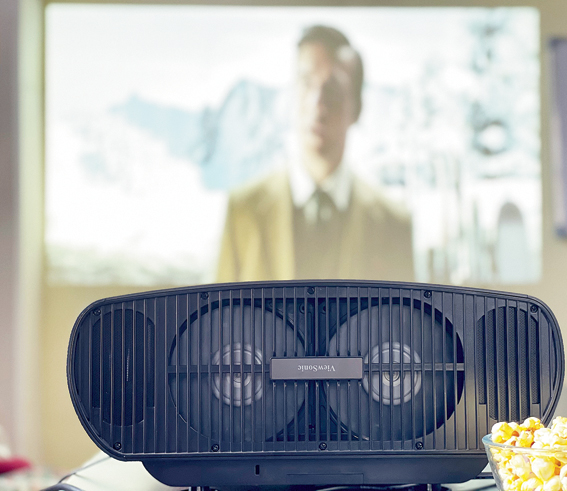 ViewSonic X100-4K+ fits in almost any room as long as you have a biggish wall or a white screen