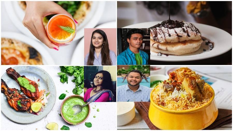POT SHOT: (Clockwise from centre top left) Siddhika Jatia, Tashmin Majumder, Soham Sinha, Farhana Afreen and their photography, respectively