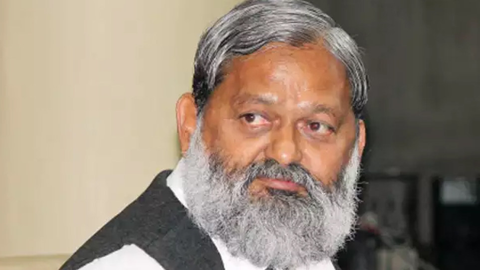 Home and Health Minister Anil Vij