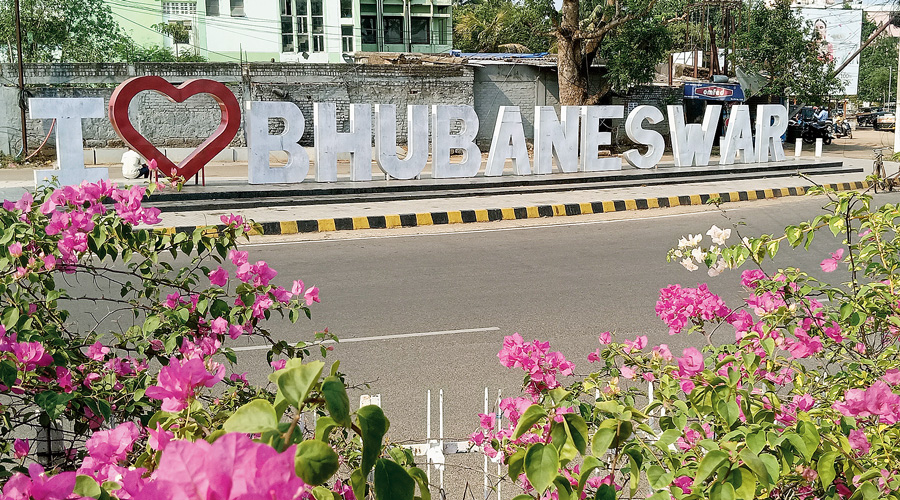 People's love for Bhubaneswar in marble.
