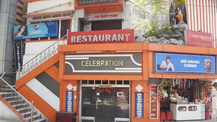 A restaurant at Luby Circular Road in Dhanbad on Wednesday.