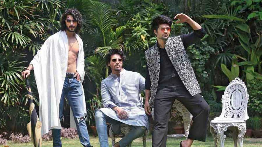 "Like menswear, which has been on her mind for a while and this Poila Baisakh sees the unveiling of MKC Men. ""We have of course dressed men right through. Sanjay Dutt has worn our kantha. All the governors have worn it. I, however, feel we haven't done justice to men. For me, it was satisfying because these pieces are masterpieces by virtue of them being done in Bengal by the women in the villages,"" says Malika."