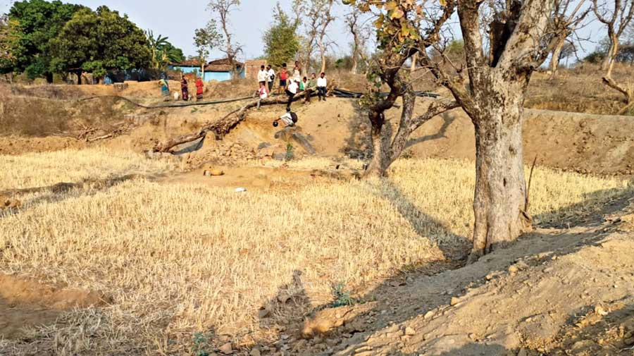 Small ponds built in Latehar under the NREGA scheme