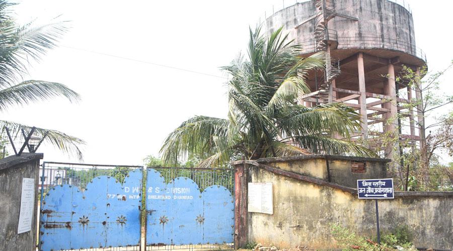 Bhelatand water treatment plant of Dhanbad Municipal Corporation on Friday.
