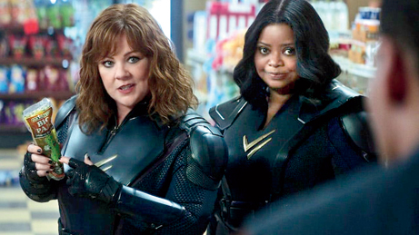 Melissa McCarthy and Octavia Spencer in Thunder Force.