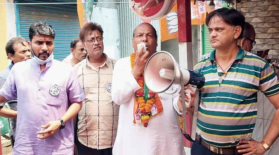 Om Prakash Mishra campaign in Siliguri