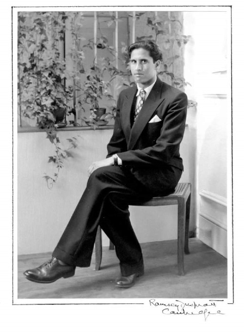UK-based writer Shahida Rahman's father, Abdul Karim, had arrived in London from Sylhet's Fenchugonj in 1957. This photograph was most likely taken in the early 1960s in the Ramsey & Muspratt studio in Cambridge. Karim went on to become a successful restaurateur and settled down in Cambridge
