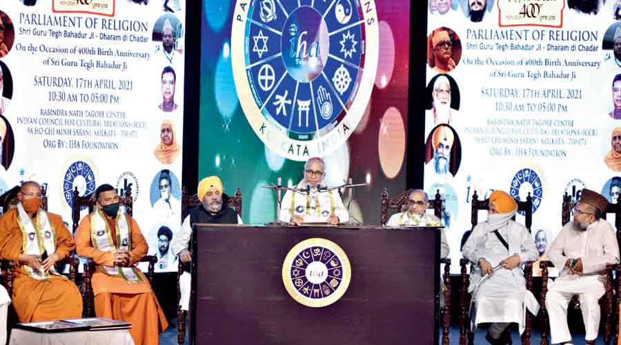 The programme to celebrate Guru Tegh Bahadur's 400th birth anniversary at ICCR on Saturday