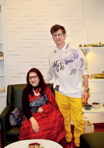 Rita Bhimani and Gautam Bhimani at the store