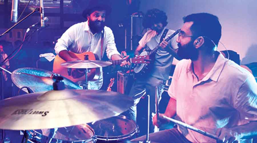 (L-R) Ashwin Gopakumar, Achyuth Jaigopal, Sailesh G. Pai and Banjo Palee Francis of When Chai Met Toast at Five Mad Men with Madness Jams on March 20.