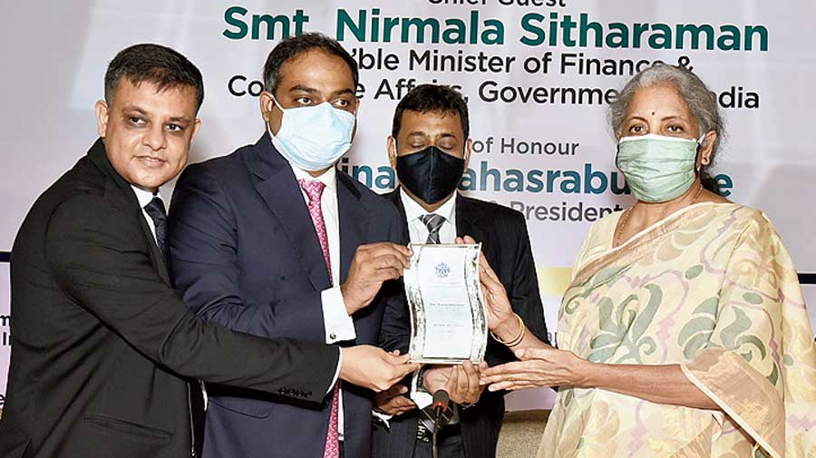Nirmala Sitharaman  in Calcutta on Tuesday
