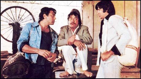 Jaaved Jaaferi's father Jagdeep as Soorma Bhopali in Sholay