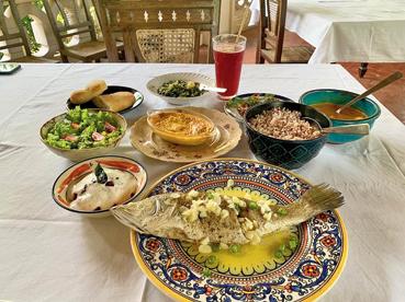 Celia's lunch main course at Palacio do Deao