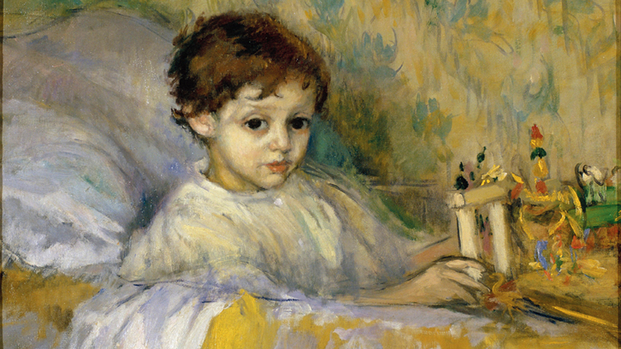 Sick Child (Octavi, the artist's son) by Ricard Canals, circa 1903.