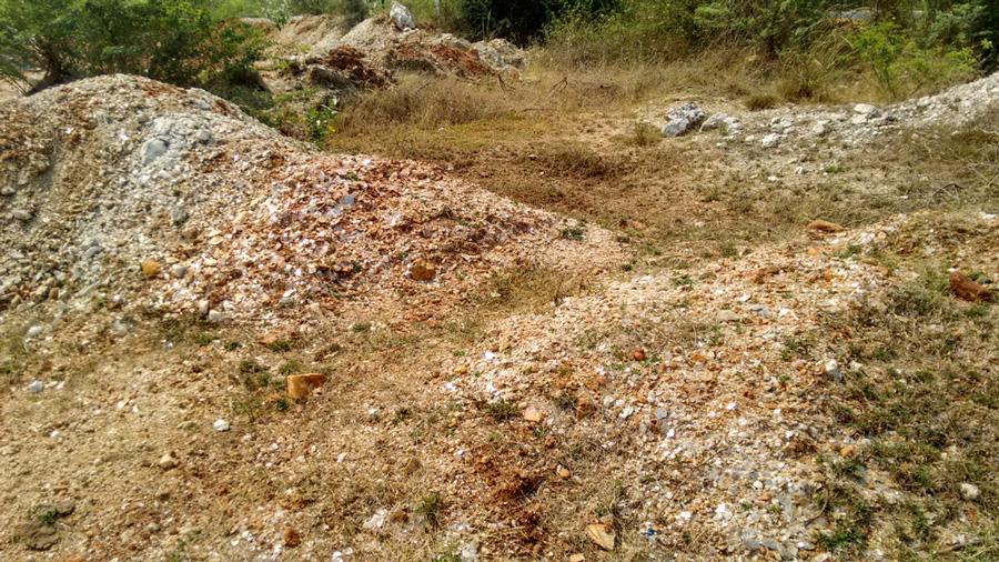 Mica mines of Gudur, India.