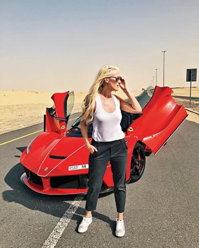 Supercar Blondie with the LaFerrari Aperta