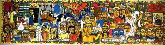 Satyajit Ray table runner by Bag of Bong
