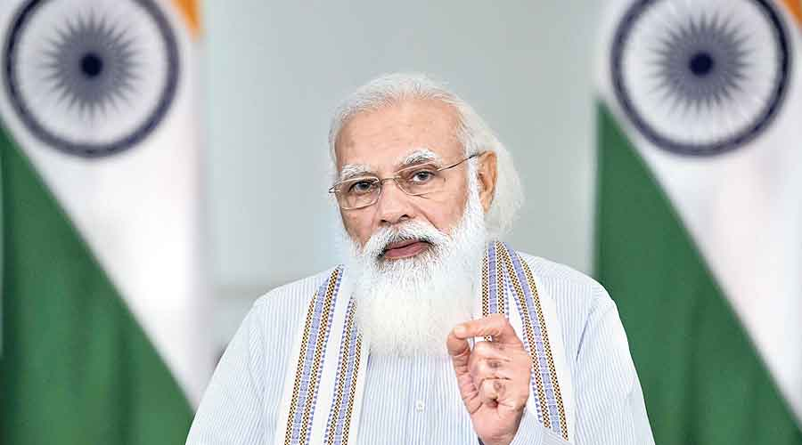 Narendra Modi interacts virtually with IPS probationers  on Saturday.