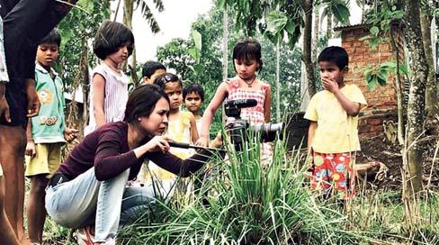 Director Rima Das at work