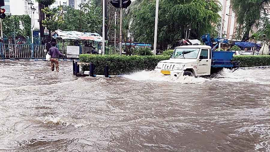 New Town, Sector V flooded after heavy rainfall