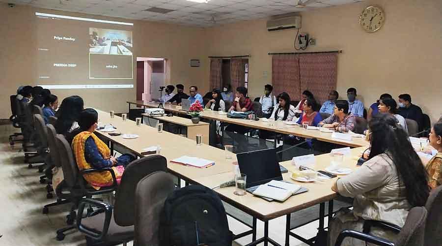Women entrepreneurs during the programme in Jamshedpur.