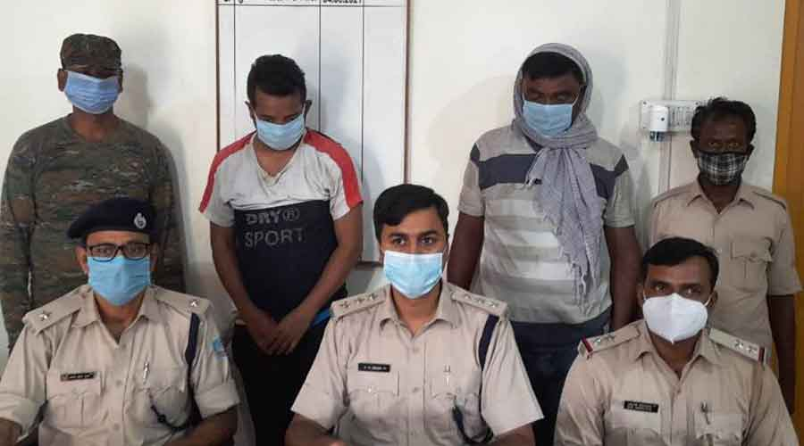 The arrested members of Koda gang.