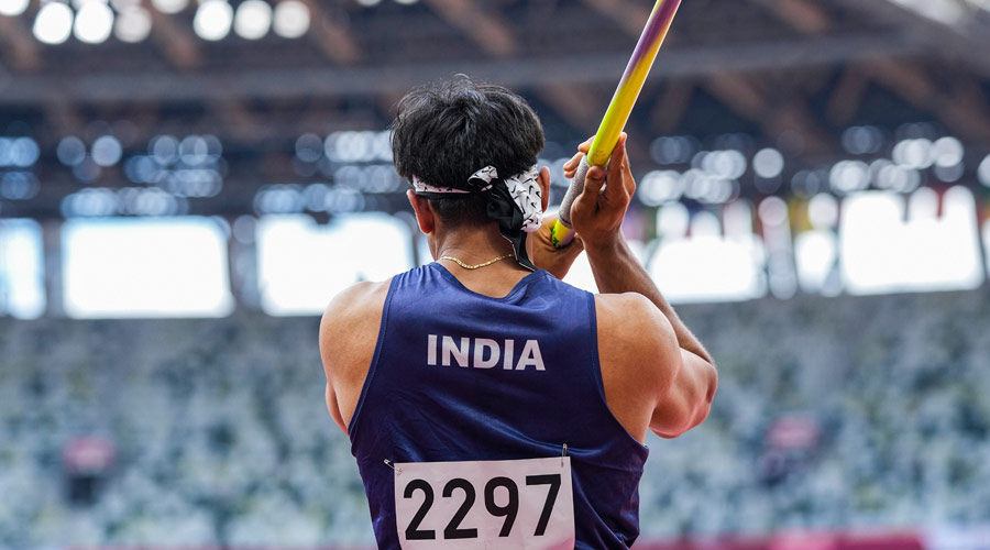 Neeraj Chopra's javelin which gave India its sole gold in the 2020 Olympics has drawn a bid of over Rs 1.55 crore while its base price is Rs 1 crore.